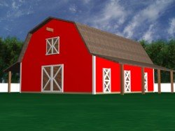 barn plan, horse shelter